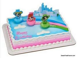 POWERPUFF Girls Party CAKE Topper Decoration Birthday Cupcake Favors Gif... - $10.84