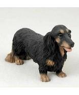 DACHSHUND (BLACK LONG HAIR) DOG Figurine Statue Hand Painted Resin Gift ... - $19.99