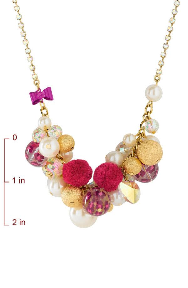 Betsey Johnson 'Varsity Crush' Cluster Necklace