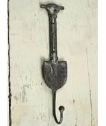 NWT Cast Iron Metal Antiqued Finish Garden Spade Shovel Wall Hook Hanger... - $8.93