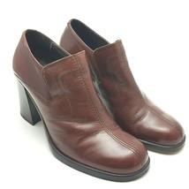 DKNY Women's Ankle Booties Size 8.5 B Reddish Brown Split Toe Block Chunky Heel - $31.37