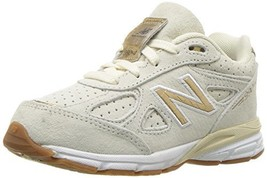 Balance Girls' 990v4 Sneaker Angora/Gold 13 W US Little Kid - $95.86