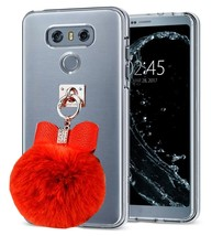 HTC One A9 Case,Creative Handmade Warm Fluffy Fur Ball and Decorative Bowknot De - $11.87