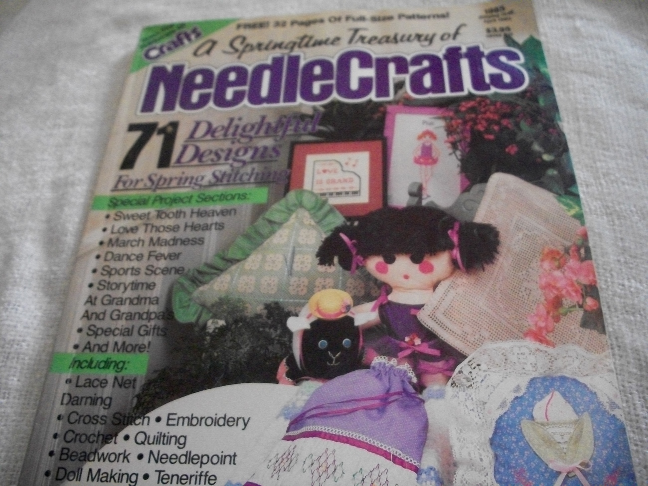 Primary image for A Springtime Treasury of Needle Crafts 1985 Magazine
