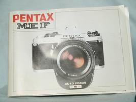 Pentax MEF 35mm SLR Camera Original Instructions - Nice-  - $10.00