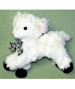 "10"" WALMART LAMB WHITE BLACK STUFFED ANIMAL PINK EARS FLOWER RIBBON EAST... - $14.85"