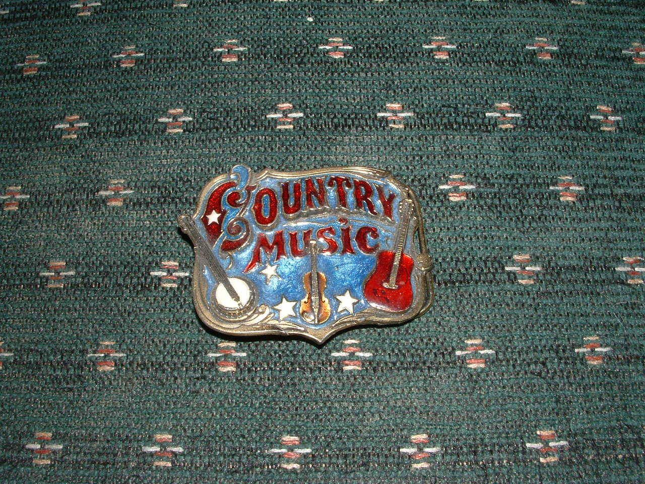 "THE GREAT AMERICAN BUCKLE "" COUNTRY MUSIC"" W/ SERIAL NO"