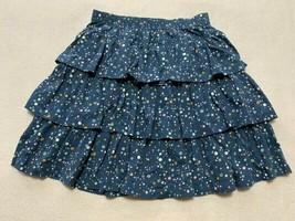 Hanna Andersson 150 12 Blue Green White Peach Polka Dot Tiered Ruffle Skirt - $9.99