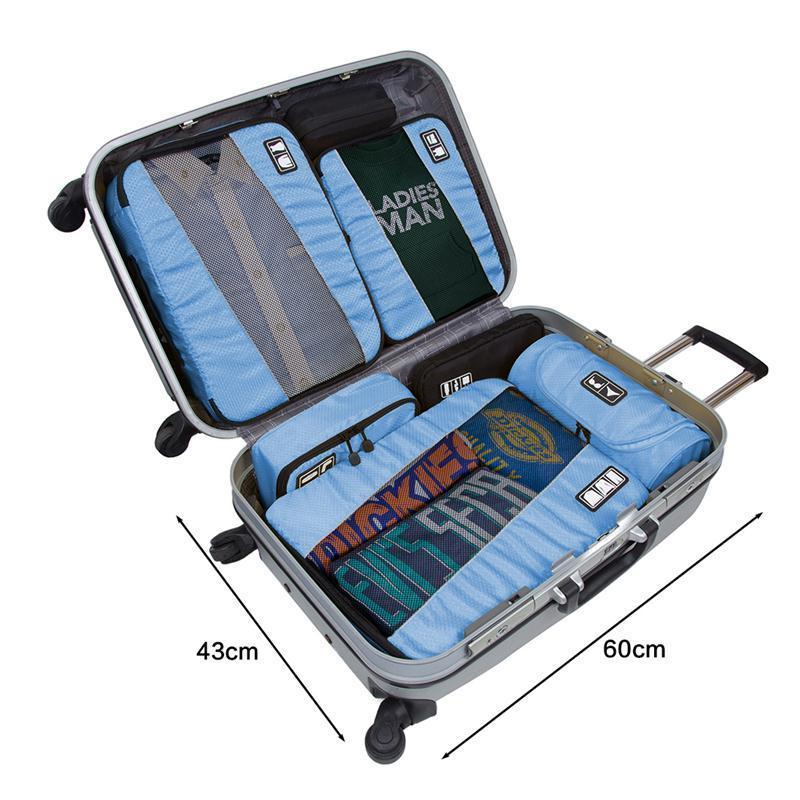 Cubes Travel Luggage Packing Set Organizers Laundry Bag Breathable Organizers