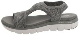 Skechers Knit Cutout Sport Sandals Deja Vu Grey 10M NEW A349857 - ₹3,517.08 INR