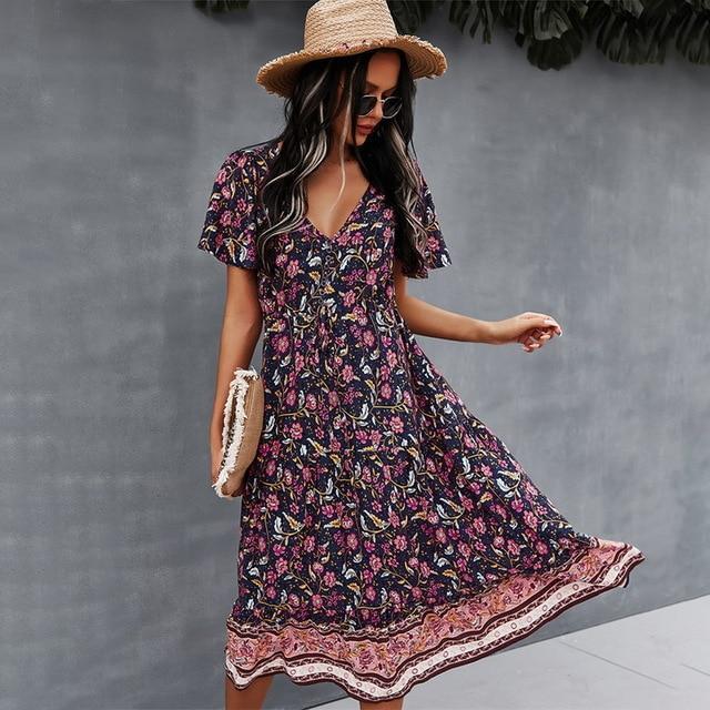 chain print lapel neck party dress casual long.jpg 640x640 0256371d 3f13 43d2 b2bb 3f391993cc75