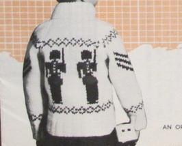 Vintage Mary Maxim Knitting Patterns CHILDREN Cardigan Sweater SOLDIER BOY - $6.95