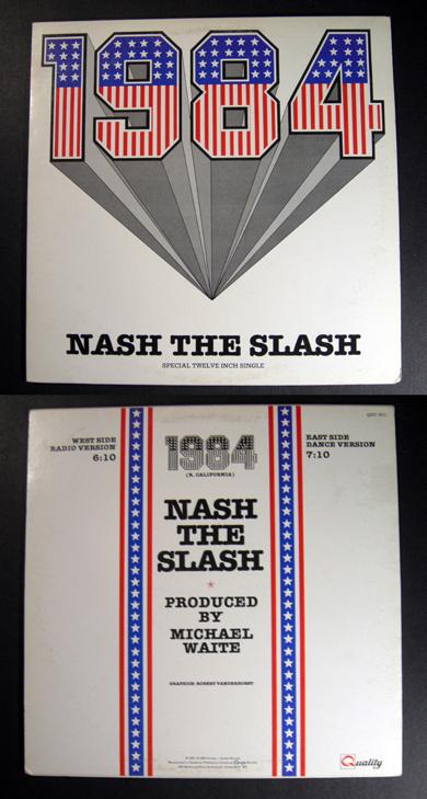 "NASH THE SLASH 1984 ext 12"" PS Canada prog synth"