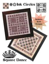 Square Dance cross stitch chart (2 patterns) Ink Circles  - $18.00