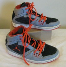 Nike Air Jordan 1 Flight Basketball Shoes 372704-028 Stealth Grey Crimso... - $48.10