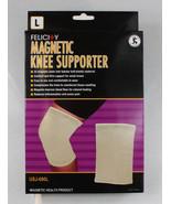 Felicity Magnetic Knee Support Supporter Health Beige Knit Magnets Massa... - $19.99