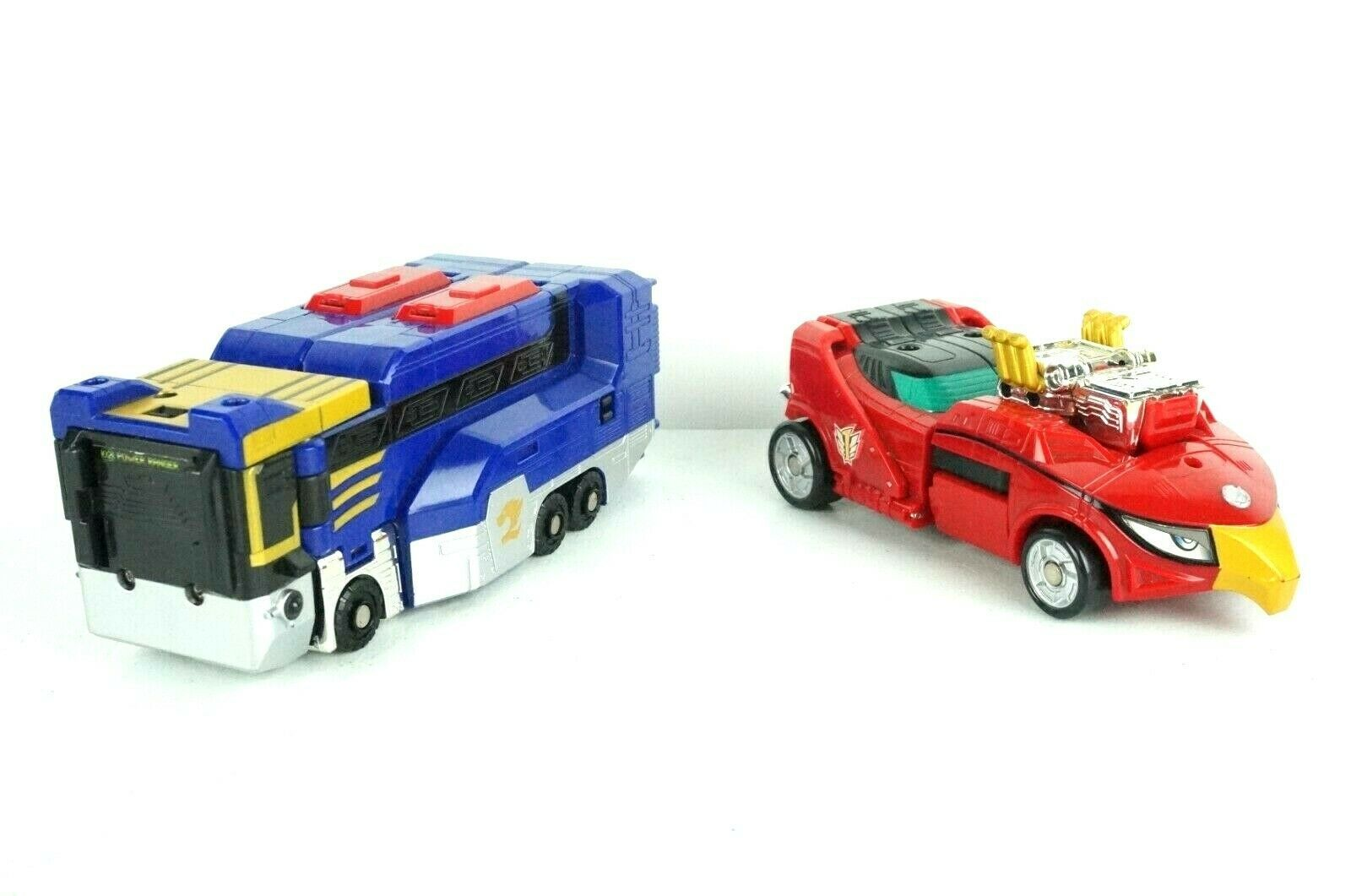 Primary image for Power Rangers RPM High Octane Red Eagle Racer Zord & Part of Lion Howler Bus
