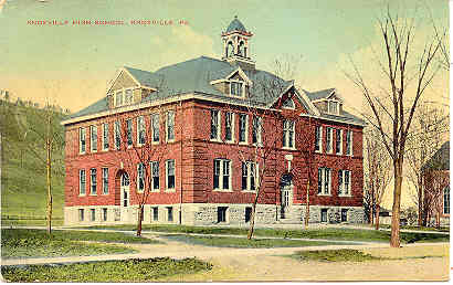 High School Knoxville Pennsylvania Vintage Post Card