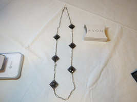 """Damen Avon Farbe Akzentuierte Halskette Schwarz 25 """" F364951 Nip - $16.07"""