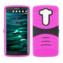 LG V10 Hybrid Silicone Case Cover Stand - $12.99