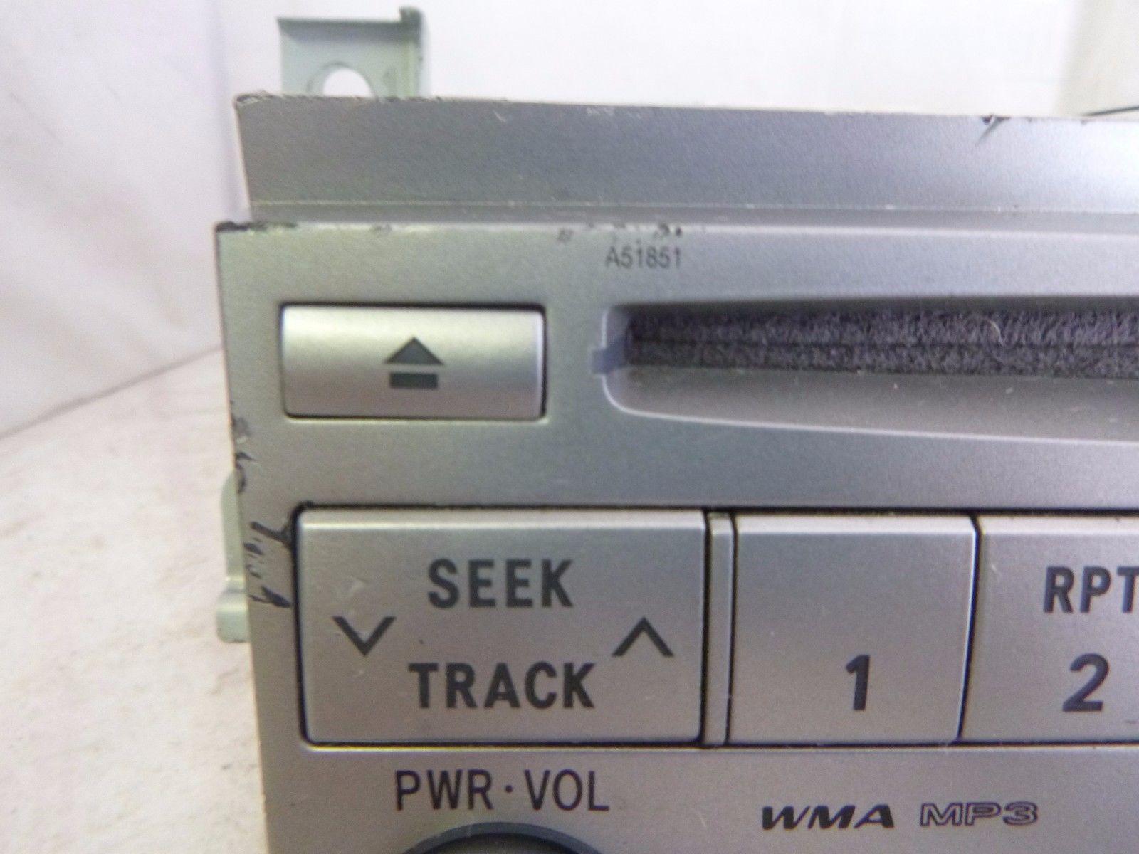 08 09 10 Toyota Avalon Radio 6 Disc Cd MP3 Player A51851 86120-07060 B8821