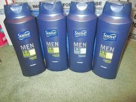 JUMBO 4X Lot SUAVE Men BODY WASH Conditioner SHAMPOO Citrus Rush & Ocean... - $19.13