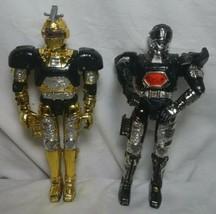 "1996 Lot 2 of Bandai Beetleborgs Metallic Action Figure 5.5"" Silver & Gold - $16.82"