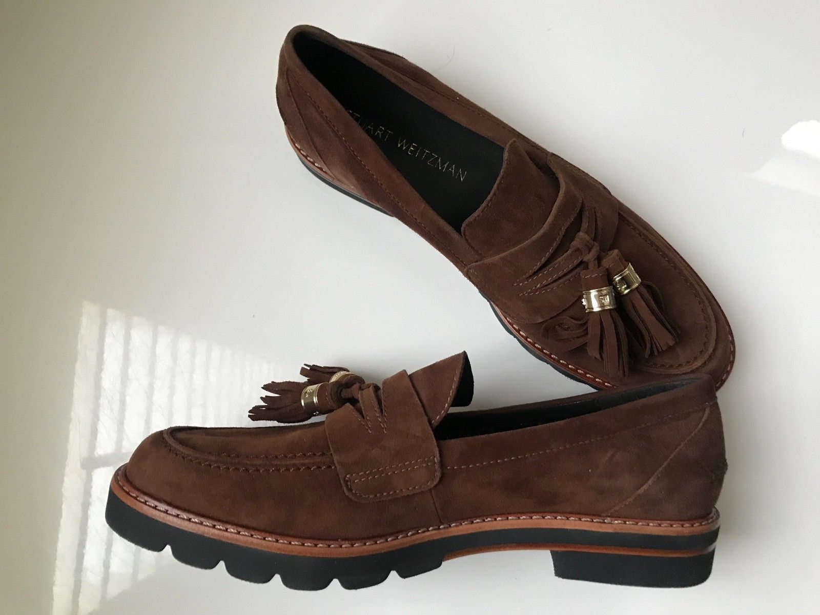 ab70da871d8 Stuart Weitzman Manila Loafer In Brown Suede and 50 similar items. S l1600