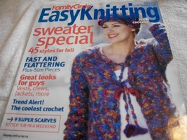 Family Circle Easy Knitting Plus Crochet Fall 2... - $3.00