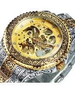WINNER Men's skeleton, automatic mechanical, retro style, luxury watch.M... - $54.99