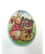 VINTAGE Bunny Rabbit Rubber Stamp Plastic Easter Egg 31392 Taiwan - $17.81