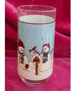 4 MEIWA SNOWMEN SERENADE II TUMBLER GLASSES 14 OZ WINTER SNOWMAN HOLIDAY - $29.69
