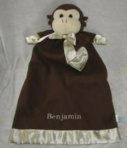 """Komet Creations Lovey Security Blanket Satin Heart Trim Brown Monkey 24"""" - $49.49"""