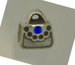 NICE Sapphire Purse Handbag European Charm bead Sterling Silver .925 Jew... - $13.61