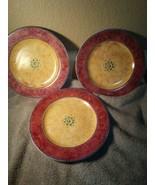 3) SAKURA MALAGA SALAD PLATES  1995  SUE ZIPKEN-- -FREE SHIP--VGC - $24.30