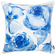 18x 18 Blue Sky Petals Decorative Throw Pillow Cover Printed - $16.27