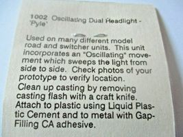Detail Associates # 1002 Oscillating Dual Pyle Headlight HO-Scale image 3