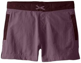 Medium 10-12 White Sierra Girl's Lake Shorts UPF 30 Quick Dry Short Grape