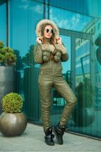 Women's Brand Fashion Hooded Ski Suit Snow Jumpsuit image 11