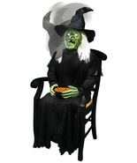 LifeSize Animated Jumping Sitting Witch Halloween Prop Haunted Decor Spi... - £150.45 GBP