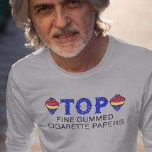 TOP cigarette rolling papers long sleeve t-shirt Zig Zag JOB Joker marijuana tee image 3