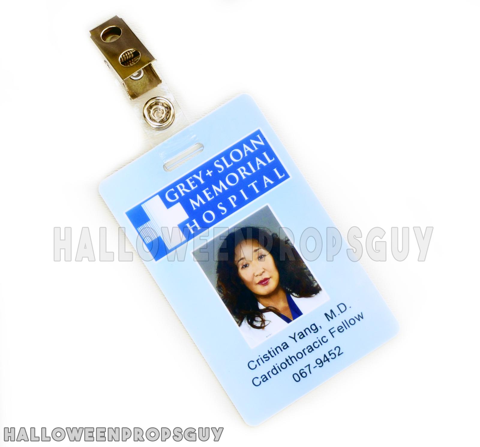 Grey\'s Anatomy Style Cristina Yang Id Card and similar items