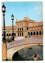 Spain Sevilla Plaza de Espana Spanish Square Seville Vintage 4X6 Postcard - $4.95