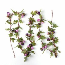 Artificial Rose Vine Backdrop Decor Silk Fake Flower Garland Wedding Hom... - $6.50