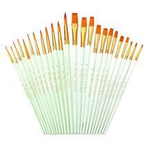 12 PCs Nylon Hair Brush Watercolor Acrylic Macaron New Oil Painting - $14.65