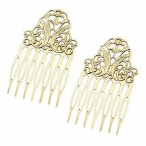 5 Pcs Gold Metal Side Comb Chinese Style Hairpin Topknot Hair Clip Bridal Hair A
