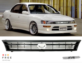 Fit For 93 97 Toyota Corolla Front Grille JDM Crown Billet Style AE100 A... - $74.99
