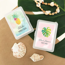 100 Personalized Tropical Beach Summer Playing Cards Bridal Wedding Favor Gift - $90.20