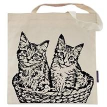 Cat Tote Bag by Pet Studio Art Casual Tote, Kittens in a Basket - $17.53