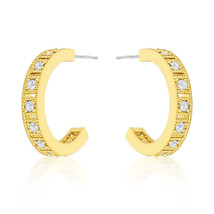 Roma Goldtone Finish Hoop Earrings - $36.00